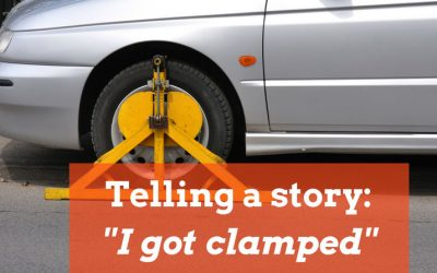 My car was clamped – telling a short story